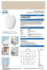Bemis 1200Slowt-076 Elongated Plastic Slow Close Toilet Seat Creme
