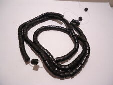 """LOT OF 3 BLACK COCOA HEISHI SHELL BEADS 24"""" STRAND 4-5 MM PHILIPPINES WHOLESALE"""