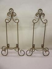 Set of 2 Gold Rustic Wall Hanging Plate or Book Holders Display Rack 17\  : hanging plate rack - pezcame.com