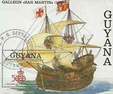 Timbre Bateaux Guyana o lot 26575