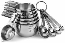 Hudson Essentials Stainless Steel Measuring Cups and Spoons Set - 11 Piece