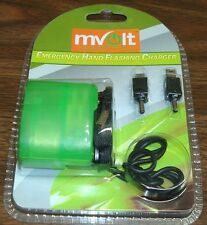 NEW Emergency Hand Flashing Charger for most HTC SAMSUNG LG MOTOROLA Cell Phones