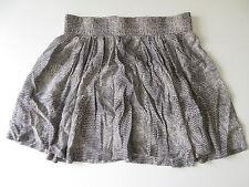 Women's COUNTRY ROAD Size 8 US / 12 AU Mini Skirt Grey Cream ExCon Snake Pattern