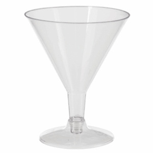 5 oz Clear Plastic Martini Glasses Perfect for Appetizers, Desserts Disposable