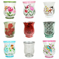 Village Candle Hand Painted Hurricane (11cm) - Various Designs Available