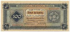 CROATIA, HRVATSKA - 100 Kuna 1.9. 1943. P11, UNC. (C012)