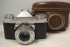 Zeiss Ikon Contaflex I 35mm SLR Film Camera 50mm f2.8 Tessar 861/24 Filter #601