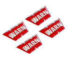 4 x Aufkleber 3D Warn Stickers Auto Moto Tuning Off Road LKW System Equipment