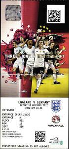 Ticket 10.11.2017 England - Deutschland, Wembley National Stadium, London
