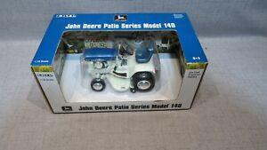 1/16 Ertl John Deere Patio Series Model 140 Blue  Garden Tractor W Mower