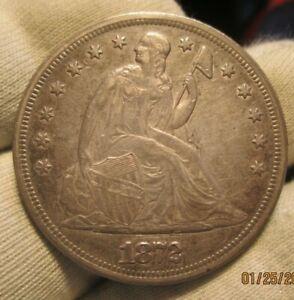 1872 Seated Dollar