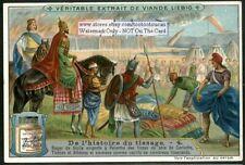 King Sacking Corinth To Take Their Silk Material 1910 Trade Ad Card