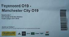 TICKET UEFA YL 2017/18 Feyenoord - Manchester City