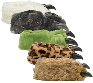 Unisex Bear Claw Slipper Mens Womens Animal Feet Faux Fur Monster Shoes Slippers