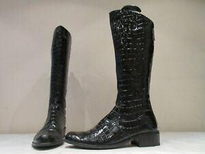 DUNE PATENT LEATHER ZIP UP RIDING STYLE BOOTS UK 5 EU 38 (3730)