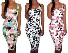 Viscose Summer/Beach Floral Dresses for Women