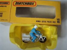 Matchbox Superfast Japanese 46 Honda CB750 Police Bike