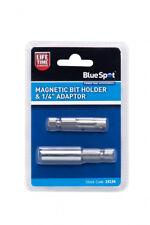 "Magnetic Bit Holder and 1/4"" Socket Adaptor Set BlueSpot 14134 Lifetime Warranty"