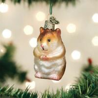 HAMSTER OLD WORLD CHRISTMAS GLASS RODENT PET ANIMAL ORNAMENT NWT 12530