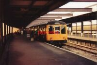 PHOTO  1992 HEYSHAM HARBOUR RAILWAY STATION THE BOAT TRAIN TO MANCHESTER IS LOAD