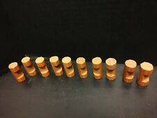 """Original Lincoln Logs Set of 10 Wild West 2"""" one Notch Round Replacement Parts"""