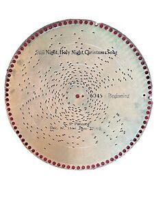 "Scarce Antique Original REGINA Music Box Disc 12"" Silent Night #6046 Christmas"