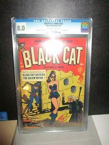 Black Cat Comics 29 CGC 8.0 OW/W KEY 1st HORROR MYSTERY! Bondage Torture VF 1951