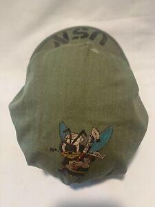 WW2 USMC P44 HBT Field Cap Hat Utility Original Marine Corps Size 6 +/-