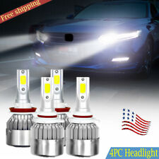 For Honda Accord Civic 2010-2017 White LED Headlight Bulb 9005+ H11 High& Low
