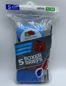 Boys Fruit Of The Loom Boxer Briefs 5 Pack Wicks Moisture Small (6-8) Available