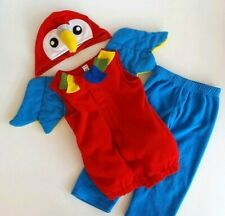 Old Navy Kids Halloween Parrot Costume Size 2T 3T Tropical Pirate Bird Warm Soft