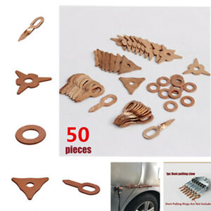 50x Auto Spot Welding Accessories Straight Triangle Twist Dent Puller Ring 5Size