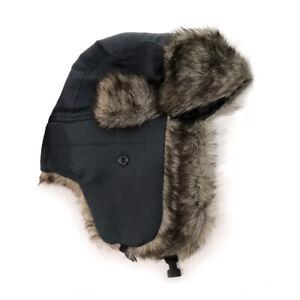 Men Women Winter Trapper Aviator Trooper Earflap Russian Ski Hat Fur Bomber Cap