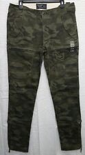 NWT Abercrombie & Fitch Mens Rustin Athletic Slim Camo Cargo Pants ~ 32 x 34