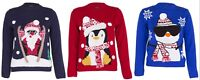 Boys Girls Unisex Christmas Jumper Xmas Kids Sweater 3D Pom Pom Novelty Pullover