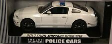 SHELBY 1:18 SCALE DIECAST 2013 FORD MUSTANG BOSS 302 WHITE UNMARKED POLICE CAR