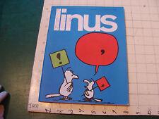 Italian Comic Magazine: LINUS #37-apr 1968, 96 pgs + 1 pg suppliment