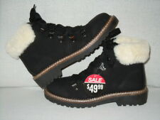 Dirty Laundry CASTILLA  HIKER BOOTS Women's Size 7 M --Black with Cream Fur