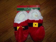 Merry Brite Kids Santa Slippers Bells - Jester Elf Size Med 13-1