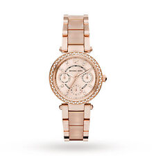 Michael Kors MK6110 Ladies Rose Gold Gold Plated Stainless Steel 33mm Watch