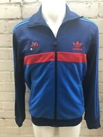 Men's Adidas Originals Track Top Size M Jacket Blue Blue Red