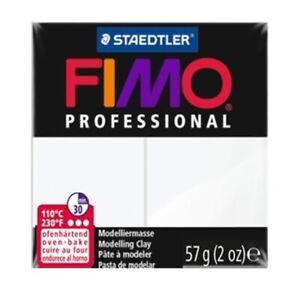 3 blocks of Fimo Professional Soft Polymer Clay 2oz white