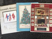 1972, 73, 74 St Louis Blues Season Ticket Holder Christmas cards Sid Salomon NHL