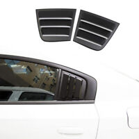 Side Window Louvers Air Vent Scoop Shades Cover ABS for Dodge Charger 2011-2021