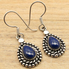"""Combined Shipping Unseen Drop Lapis Lazuli Earrings 1.5"""" ! 925 Silver Plated"""