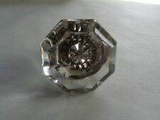 Antique Vintage Brass and Crystal 8 Point Glass Door Knob