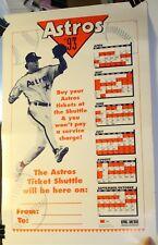 "Rare 1993 Houston Astros Schedule 14 x 22"" Poster"