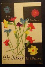 """Carte Parfumée De jussy St James """"les Parfums""""/Targeta perfumada antiga ."""