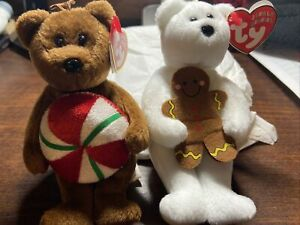 Rover /& Dizzy Set of 2 Jingle Beanies -dogs hanging decorations New NWMT