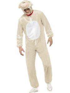 Lamb  Sheep Ladies  Mens Fancy Dress Costume Party Outfit Adult Farm Animal
